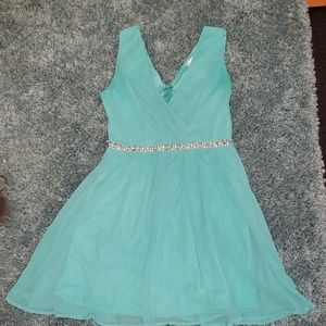Aqua cocktail dress